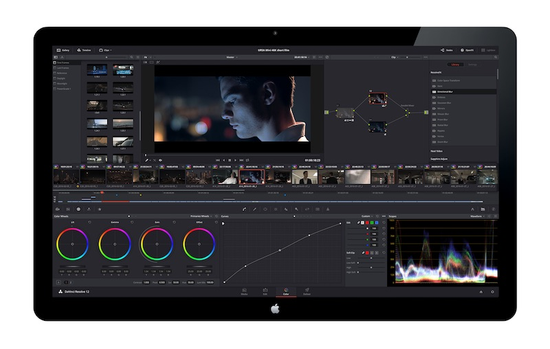 DaVinci Resolve 12.5 Color Page