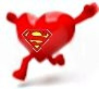 Super Heart Man loves to eat superfoods super food greens and anti-oxidants mineral and nutrient rich