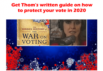 Get prepared for 2020 election with Thom Hartmann books