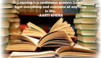 Learning is continuous process