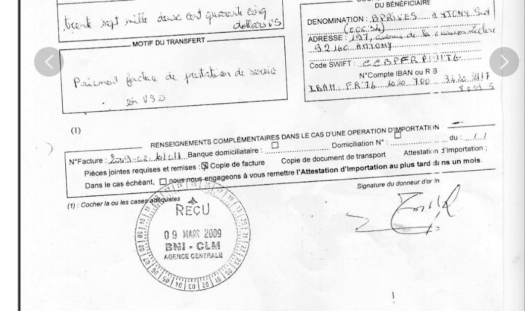 Les 76 avis de virements de CONNECTIC totalisant 1.047.060 euros pour EMERGENT ont été TOUS signés par RANARISON Tsilavo
