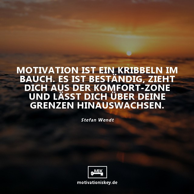Motivationszitate - Spruch mit Bild Sonnenuntergang Horizont