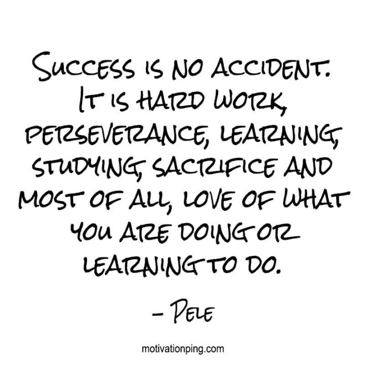Success Is No Accident It Is Hard Workverance Learning Studying