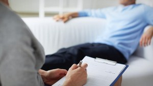 Man on Couch with Therapist