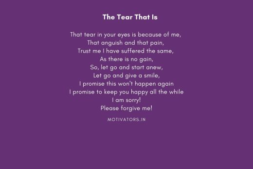The Tear That Is