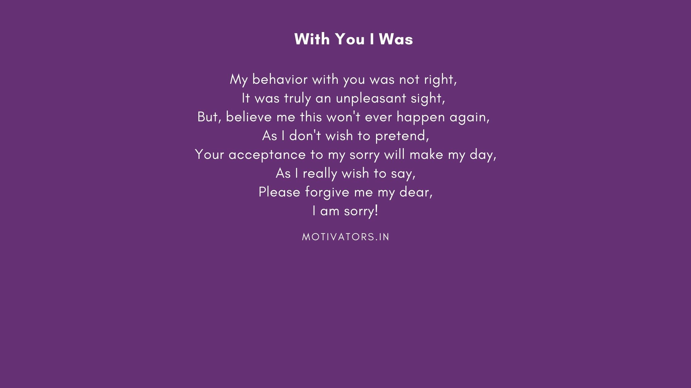 With You I Was