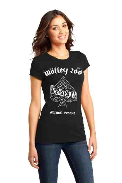 Ace of Spays women tee Front model