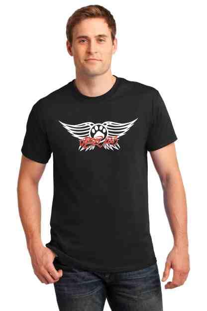 Aerosmith men tee front model