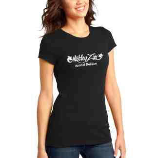 Classic women tee front MOTLEY ZOO ANIMAL RESCUE