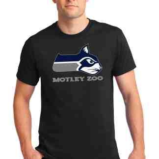 HawkCAT men tee front model MOTLEY ZOO ANIMAL RESCUE BYDFAULT