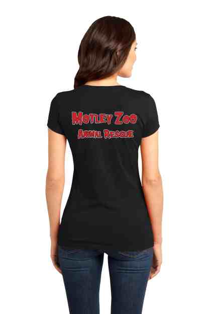 Mispits women tee back motley zoo animal rescue bydfault