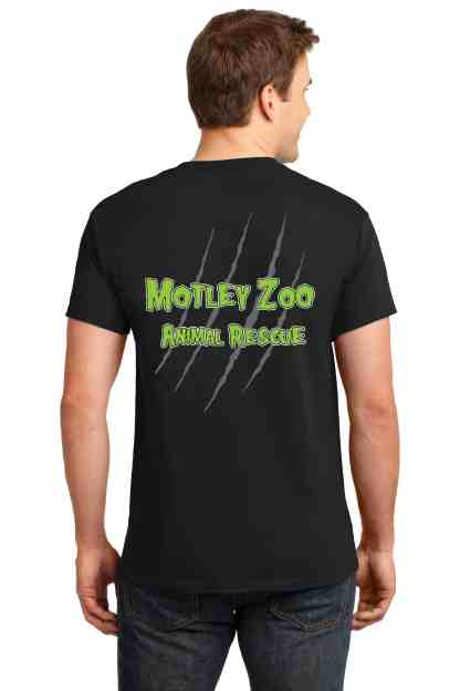 men HISSFITS tee back MOTLEY ZOO ANIMAL RESCUE