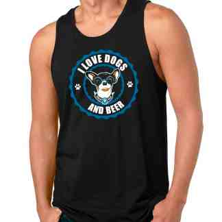LOVE DOGS AND BEER MEN FRONT TANK