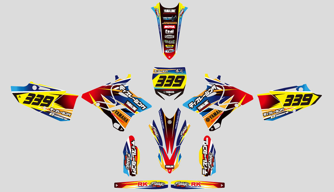 YAMAHA YZ250X  Graphic Decal Design