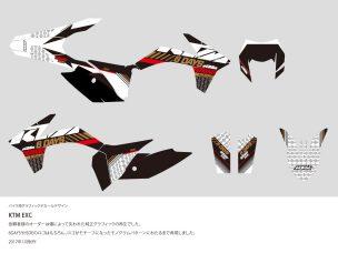 KTM EXC Graphic Decal Design
