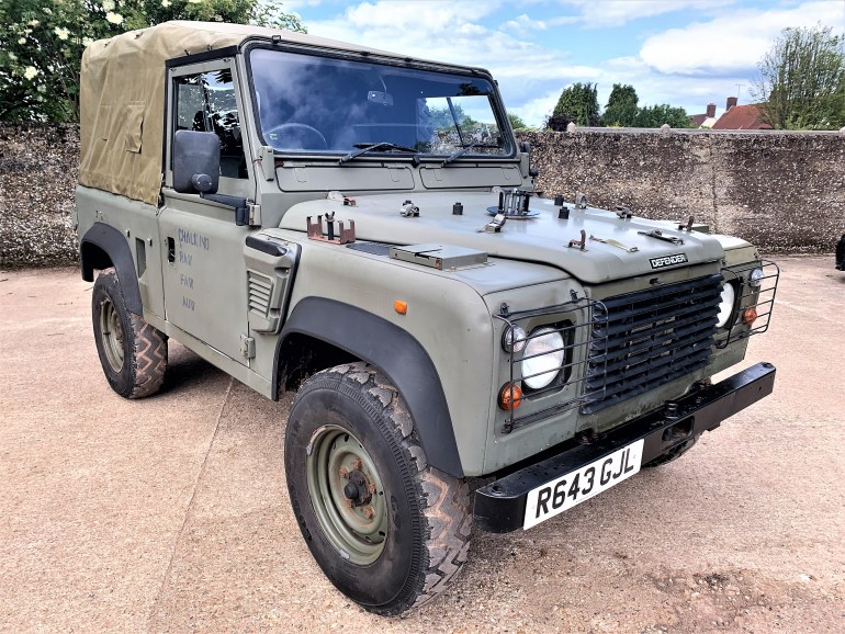 1998 Defender 90 300tdi Wolf soft top for sale at motodrome