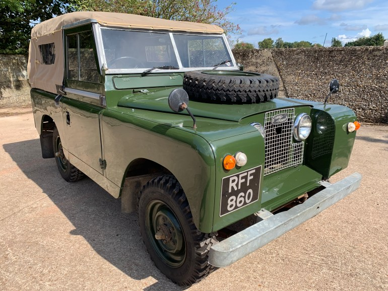 1961 series II 88in petrol soft top for sale at motodrome