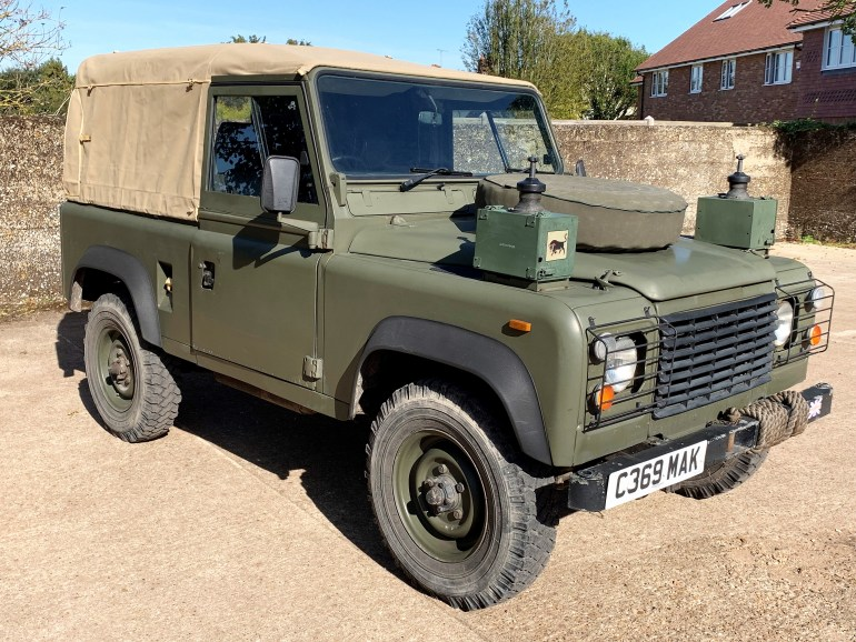land rover 90 2.2D ex military soft top 200TDi power for sale at motodrome