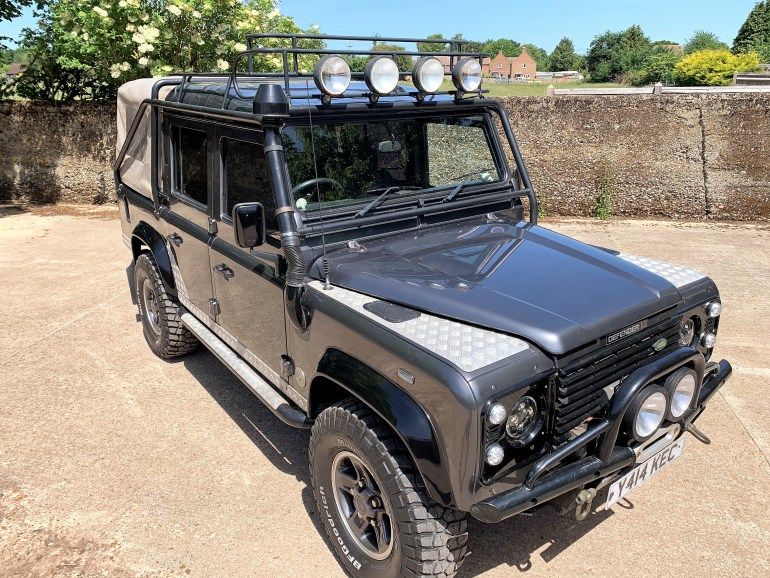 2001 DEFENDER 110 TOMB RAIDER ON GALVANISED CHASSIS