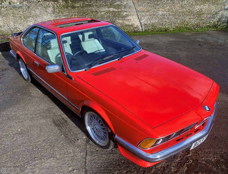 1985 BMW 635CSi (E24) rare dogleg manual £15995 for sale at motodrome