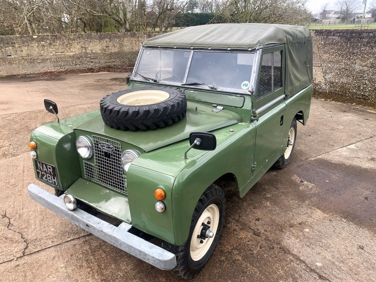 1959 Land Rover Series II 88in soft top for sale at Motodrome the classic Land Rover specialists