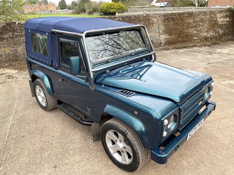 1998/S LAND ROVER DEFENDER 90 50TH ANNIVERSARY 4.6V8 SOFT TOP FOR SALE AT MOTODROME THE CLASSIC LAND ROVER SPECIALISTS