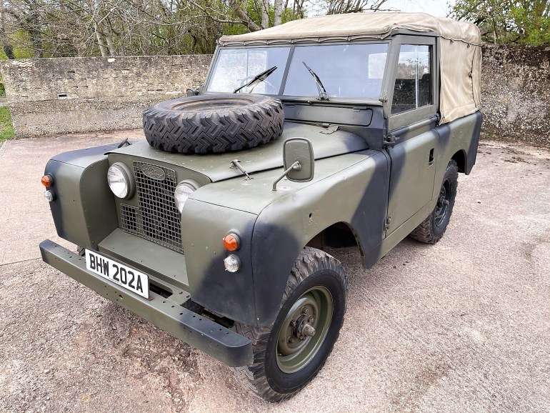 1963 LAND ROVER SERIES IIa 88in PETROL EX MILITARY SOFT TOP FOR SALE AT MOTODROME THE CLASSIC LAND ROVER SPECIALISTS
