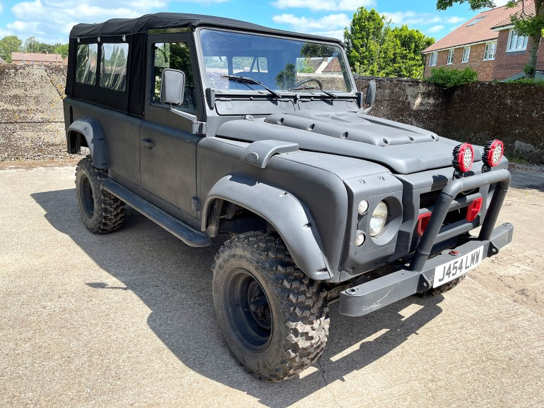 1992 LAND ROVER DEFENDER 110 2.5D SOFT TOP LEFT HAND DRIVE FOR SALE AT MOTODROME THE CLASSIC LAND ROVER SPECIALIST