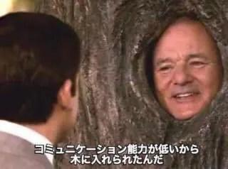 コミュニケーション能力が低いから木に入れられたんだ