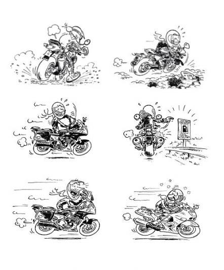 Le code des signes des motards - Dessin de motard ...