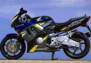 Honda CBR 600f F3 1996 1997 decals set  bluegreyblack