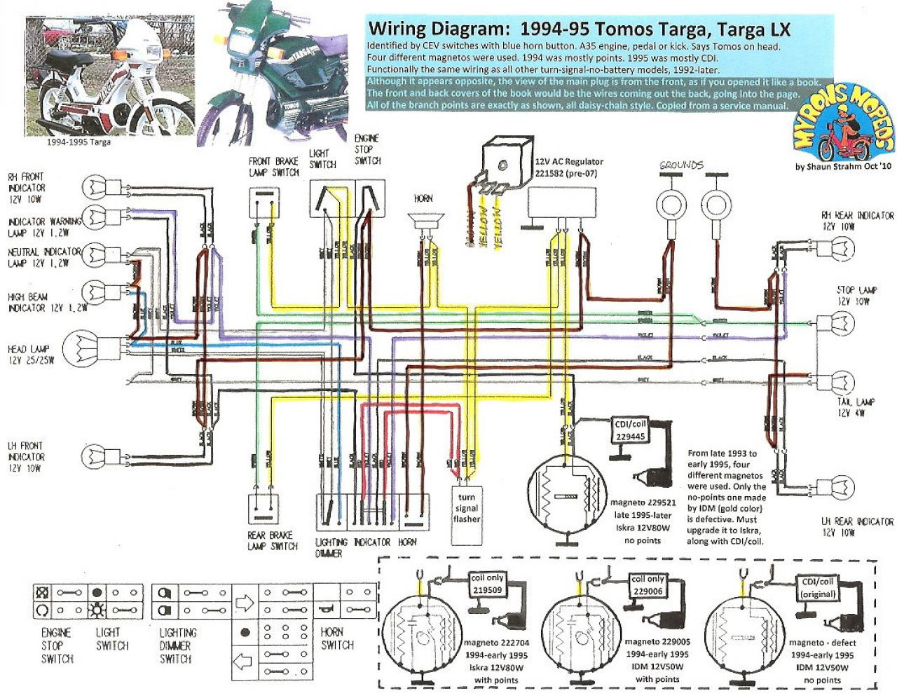 Tomos Headlight Wiring Diagram Custom Project 1978 Puch Arc2gp Gp U2022 Gsmx Co