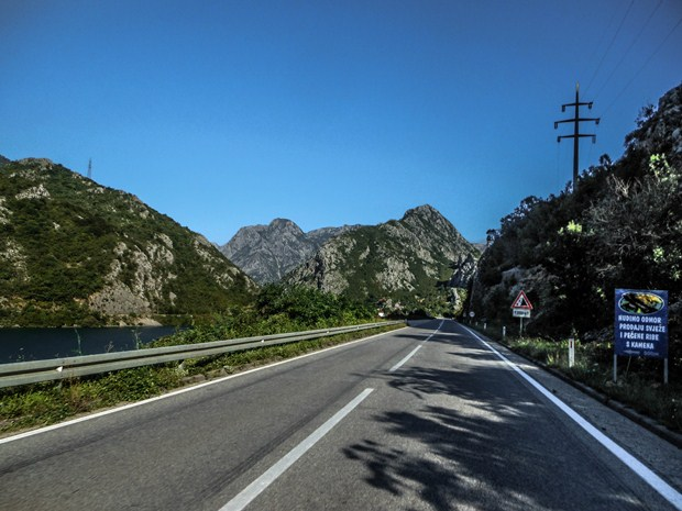 Road beside Neretva river