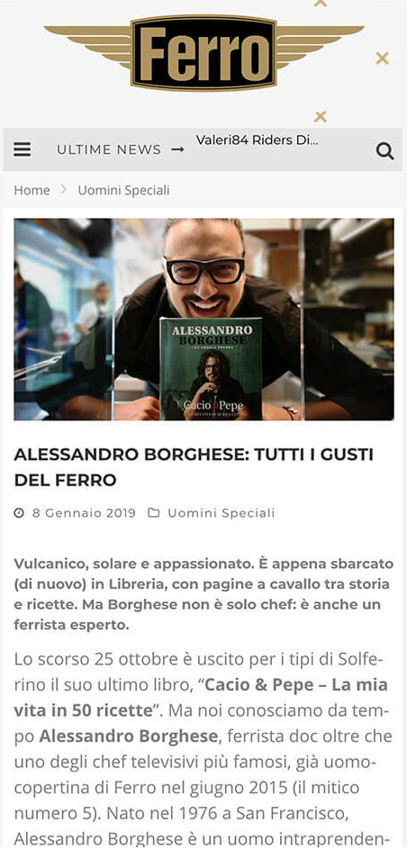 official website Ferro Magazine mobile versione