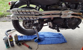 Chain Maintenance Triumph Scrambler MotoADVR