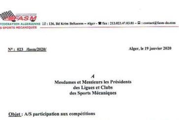 Malaise autour des Sports mécaniques en Algérie !