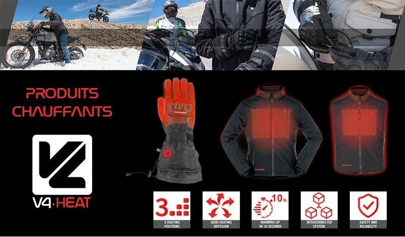 VQuattro Design : Une gamme chauffante complète pour la moto !