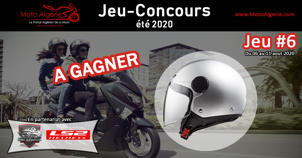 Jeu-Concours été 2020 – JEU#6 : Un casque à gagner, avec LS2 Helmets Algérie!