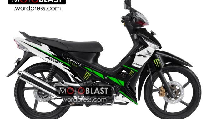 Modif Striping Supra X 125 Tahun 2006 Ala Monster Energy Lagi Motoblast