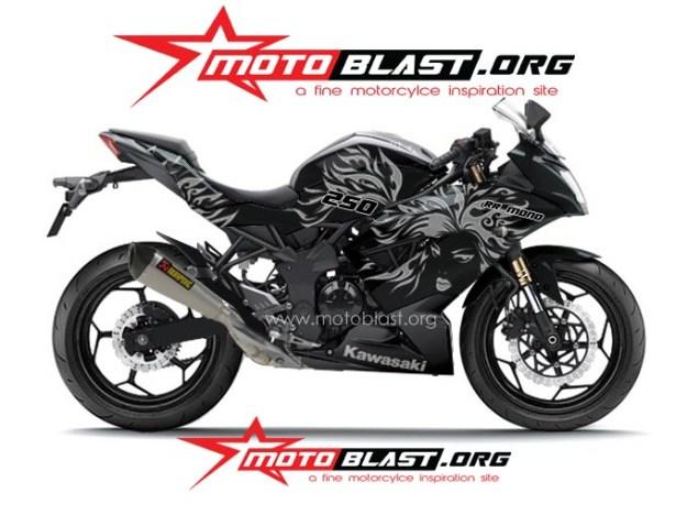 ninja 250 RR mono BLACK TRIBAL4