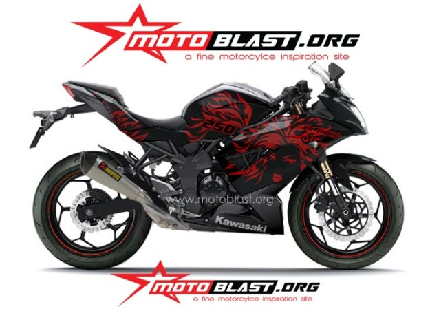 ninja 250 RR mono BLACK TRIBAL5
