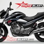 modif striping Suzuki Inazuma 250 - black-ala GSXR-3