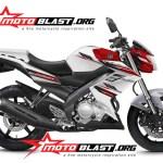 modif komplit new vixion 2014 white red
