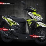 Modif striping Honda Vario 150Esp white Black thunder green lemon motoblast