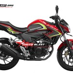 Modifikasi Honda CB150R-2015-RED SUPER CARBON