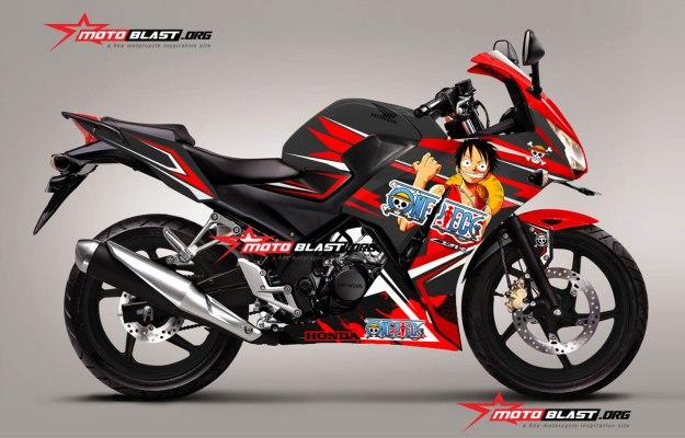 Modifikasi Honda Cbr150r Black Anime One Piece Dan Kise Ryota Motoblast