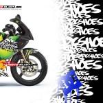 NINJA KRR150-BLACK MONSTER DC2 motoblast