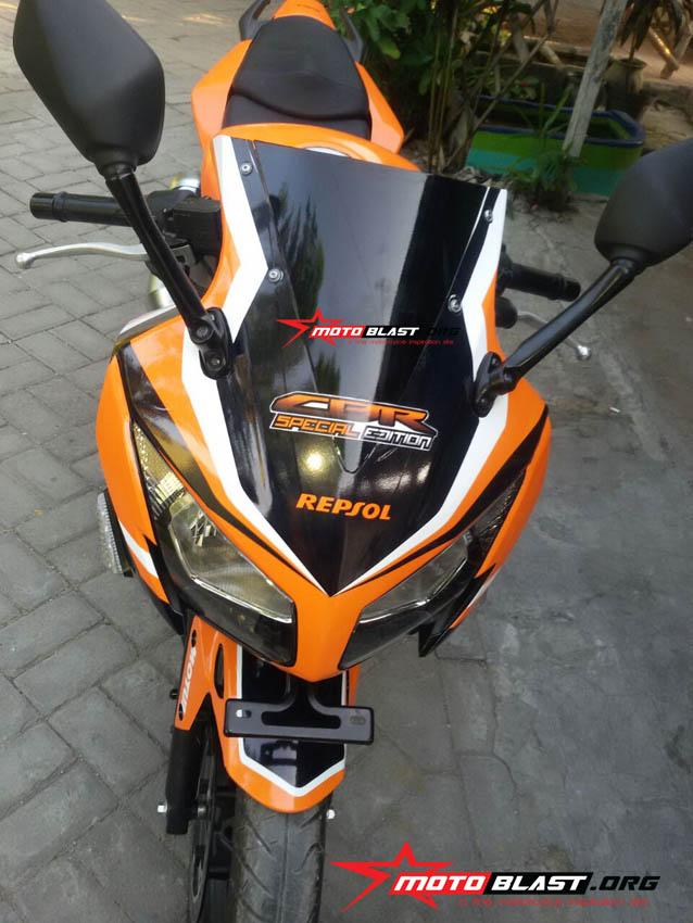 modifikasi honda cbr150r black - repso
