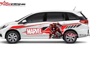 CAR SERIES Modifikasi Striping Honda Mobilio White – MARVEL IRON MAN
