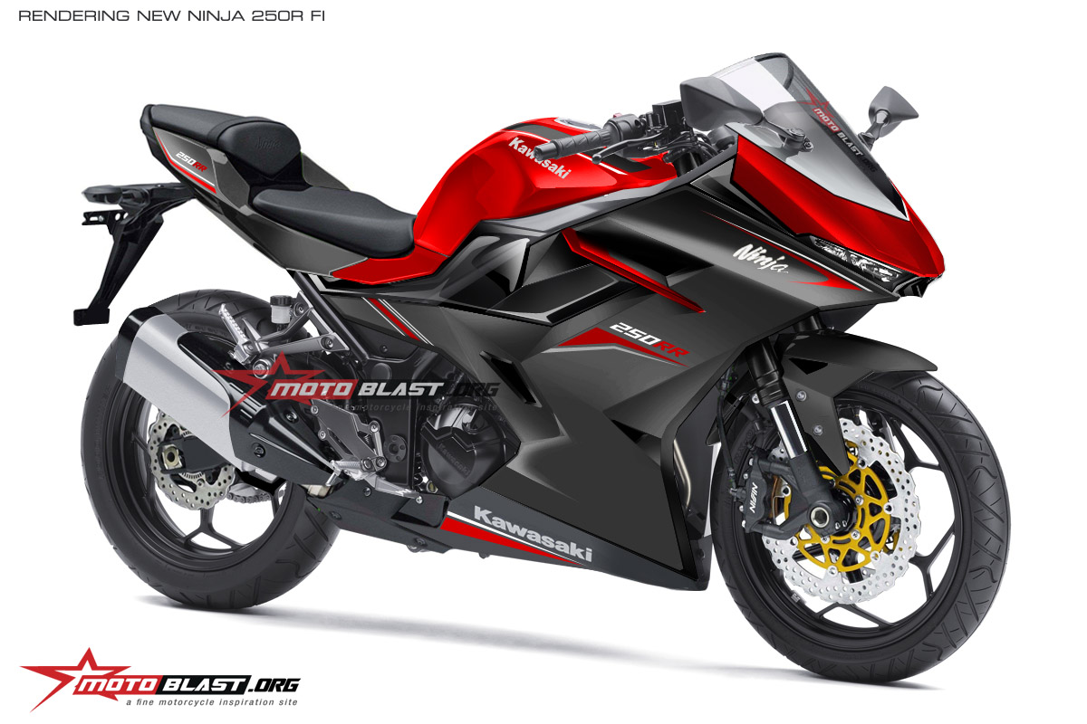RENDERING NINJA 250R FI 4 SILINDER ALL COLOR4